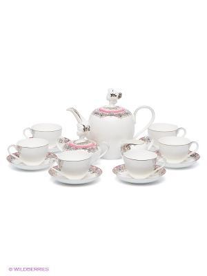 Чайный сервиз Примадонна Pavone. Цвет: белый