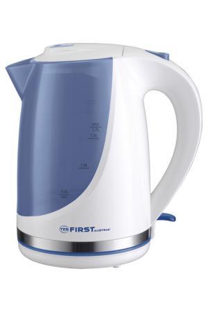 Чайник FIRST. Цвет: белый, синий