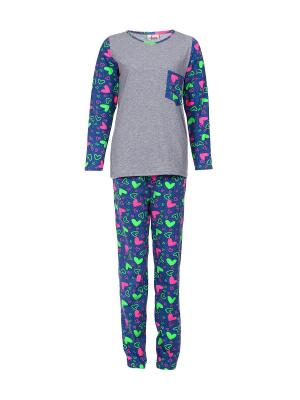 Пижама Веста.. Цвет: синий, серый