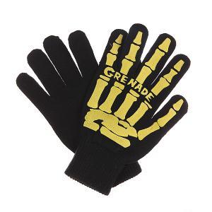 Перчатки  Scull Hand Glove Yellow Grenade. Цвет: черный,желтый