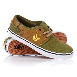 Кеды кроссовки низкие Vox Slacker Bist/Venture. Цвет: зеленый,коричневый