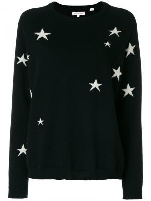 Вязаный свитер со звездами Chinti & Parker. Цвет: чёрный