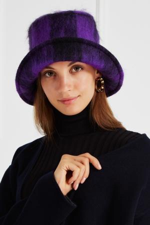 Шляпа из мохера Maison Michel. Цвет: фиолетовый