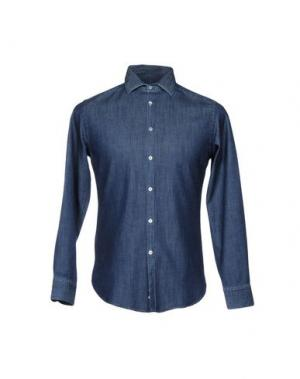 Джинсовая рубашка LIBERTY ROSE. Цвет: синий