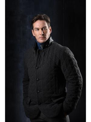 Укороченное пальто Paxton. Цвет: серый