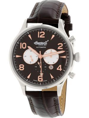 Часы IN1309BK Ingersoll. Цвет: темно-коричневый, серебристый