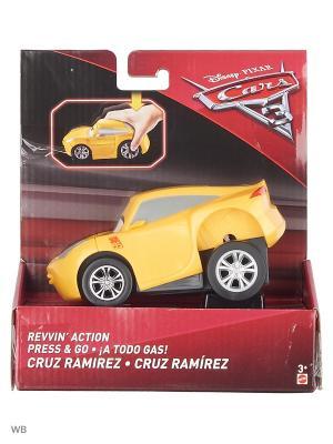 Машинки с автоподзаводом Mattel. Цвет: желтый