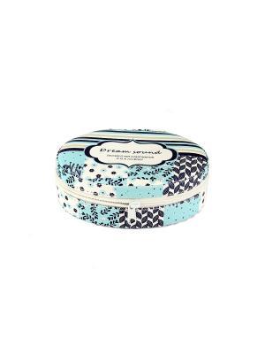 Шкатулка для ювелирных украшений 13*10*5см Русские подарки. Цвет: серо-голубой, серый, серо-зеленый, голубой, белый