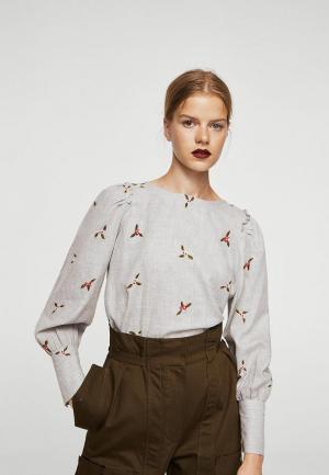 Блуза Mango. Цвет: серый