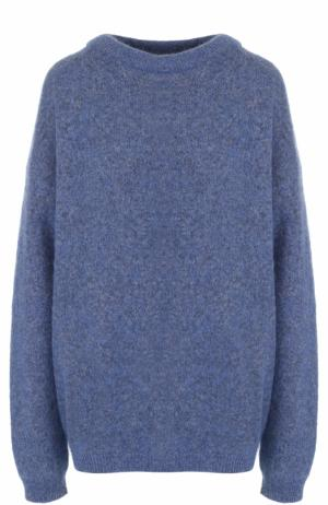Пуловер свободного кроя с круглым вырезом Acne Studios. Цвет: голубой