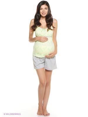 Пижама Мамин Дом. Цвет: салатовый, серый