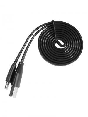 Дата-кабель micro/USB плоский IQ Format. Цвет: черный