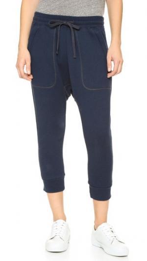 Спортивные брюки в восточном стиле NLST. Цвет: темно-синий