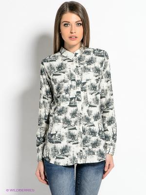 Блузка SELECTED. Цвет: серо-зеленый