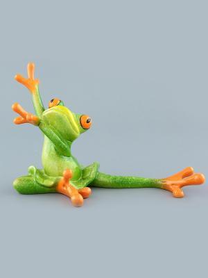 Фигурка  Лягушка - балерина Elan Gallery. Цвет: зеленый, оранжевый