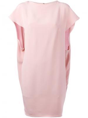Платье-кейп Gianluca Capannolo. Цвет: розовый и фиолетовый