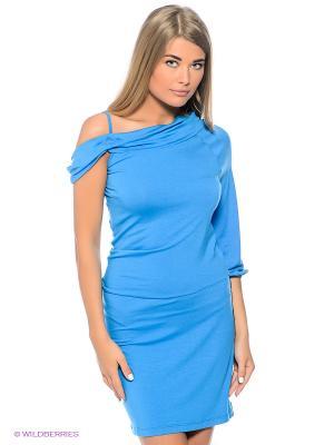 Платье Sport Vision. Цвет: голубой, черный