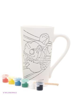 Набор для росписи керамической кружки Самолеты Фабрика Фантазий. Цвет: белый
