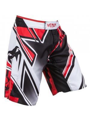 Шорты ММА Venum Wands Conflict - Black/White/Red. Цвет: белый, черный