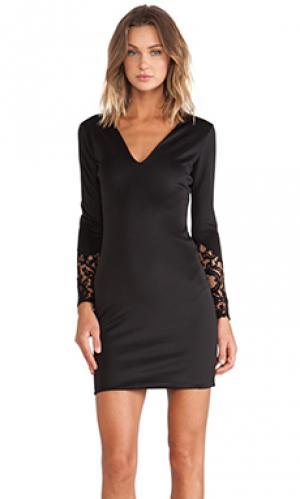 Платье с длинным рукавом shannon Boulee. Цвет: черный