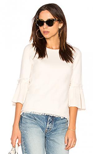 Пуловер с объемными рукавами 525 america. Цвет: кремовый
