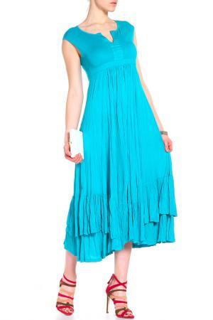 Летнее платье SARA JUNE. Цвет: бирюзовый