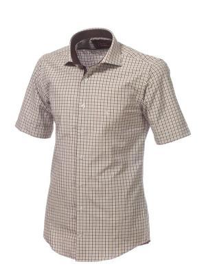 Рубашка BIRIZ. Цвет: коричневый