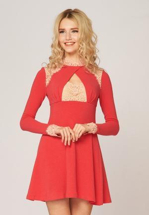 Платье Ано. Цвет: коралловый