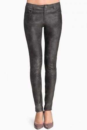 Кожаные брюки 141836 Izeta. Цвет: серый