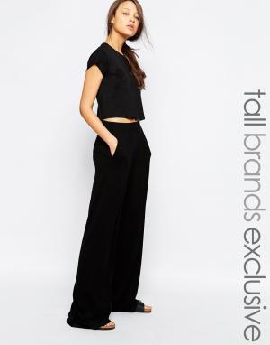 Taller Than Your Average Широкие брюки с завышенной талией TTYA. Цвет: черный