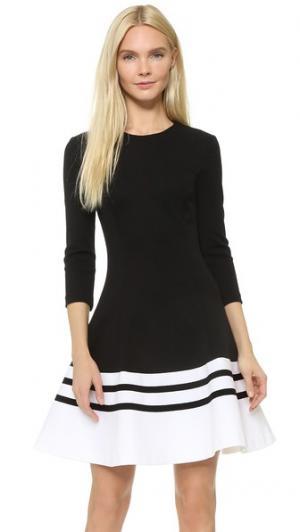 Платье Equal Wow Lisa Perry. Цвет: черный/белый