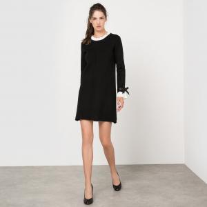 Платье с длинными рукавами, воланами MOLLY BRACKEN. Цвет: темно-бежевый