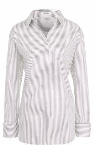 Блуза свободного кроя в полоску Dorothee Schumacher. Цвет: бордовый