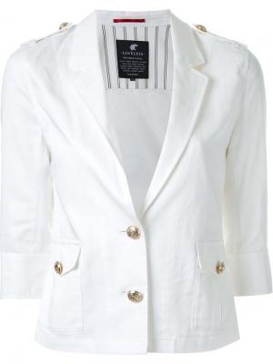 Пиджак с укороченными рукавами Loveless. Цвет: белый