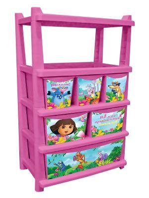 Детский комод для детской комнаты ДАША ПУТЕШЕСТВЕННИЦА 610мм комбинированный Little Angel. Цвет: розовый