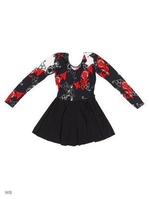 Купальник гимнастический Танцевальный Мир. Цвет: черный