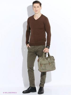 Пуловер Oodji. Цвет: коричневый