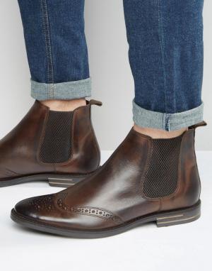 Base London Кожаные ботинки челси. Цвет: коричневый