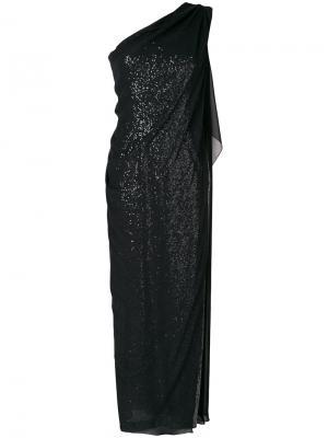 Платье Novak Talbot Runhof. Цвет: чёрный