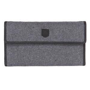 Кошелек  Wb Tri Fold Wallet Grey Wool Burton. Цвет: серый,черный