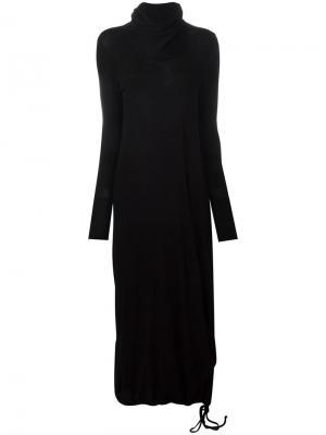 Платье с глубоким вырезом Poème Bohémien. Цвет: чёрный