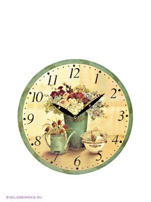 Часы настенные Mitya Veselkov. Цвет: зеленый, бежевый