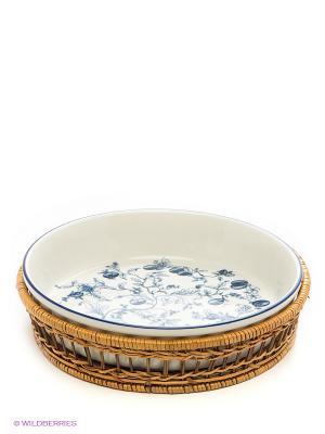 Блюдо в корзине Bekker. Цвет: синий, белый