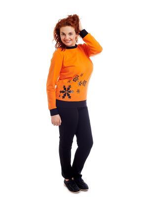 Кофточка EMDI. Цвет: оранжевый