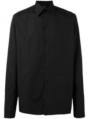 Поплиновая рубашка Sublime Odeur. Цвет: чёрный