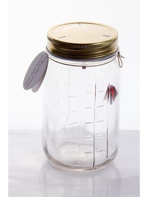 Интерьерное изделие Бабочка с подсветкой Русские подарки. Цвет: белый