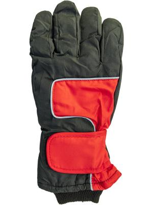Перчатки YO!. Цвет: черный, красный
