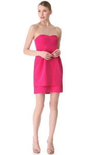 Платье без бретелек с двойной юбкой Kiley Thread. Цвет: фуксия