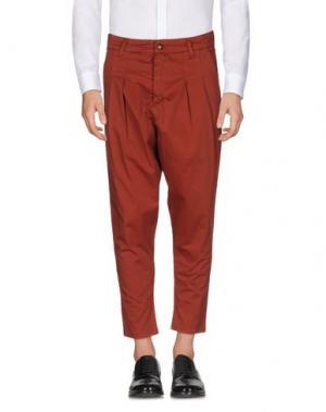 Повседневные брюки MINIMAL. Цвет: ржаво-коричневый