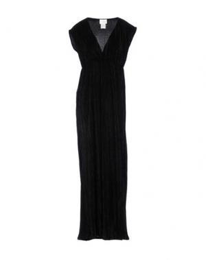 Длинное платье PINK BOW. Цвет: черный